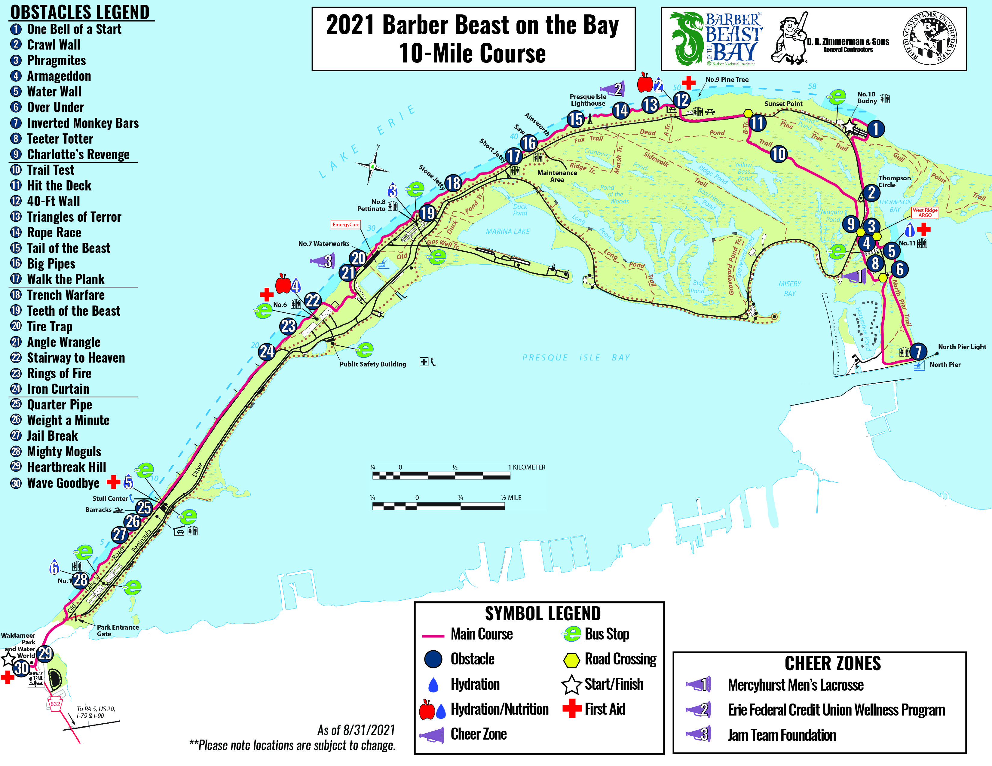10 Mile Obstacle Cours map